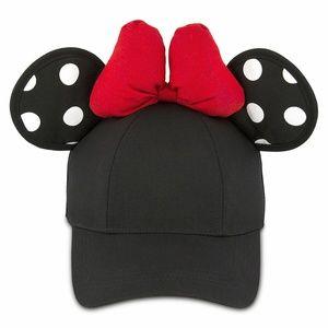Disney Parks Minnie Mouse Ears Black Snapback Cap